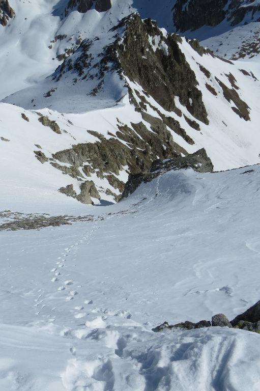 Tete de Cialancion - uscita in cresta dal canale E