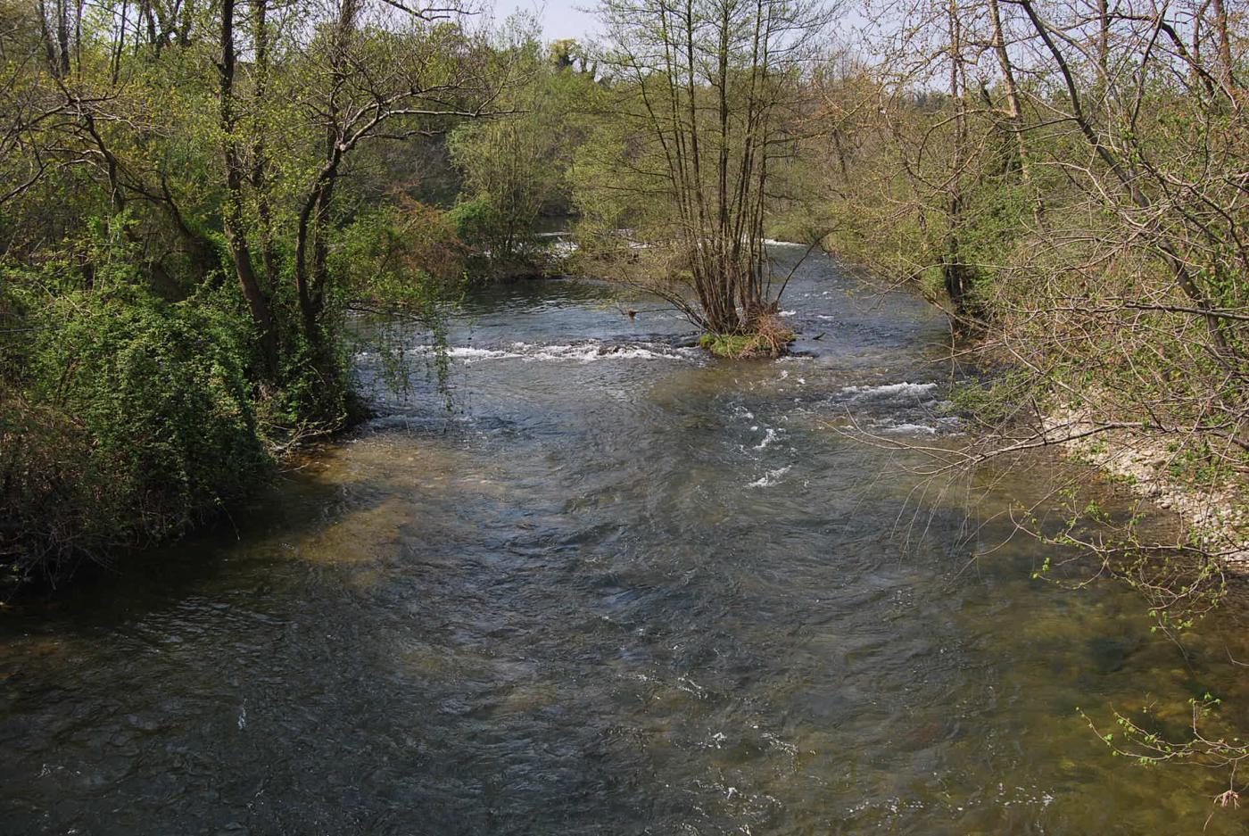 Presa sul Langosco dello Scolmatore Ticinazzo, la fonte del Naviglio Sforzesco