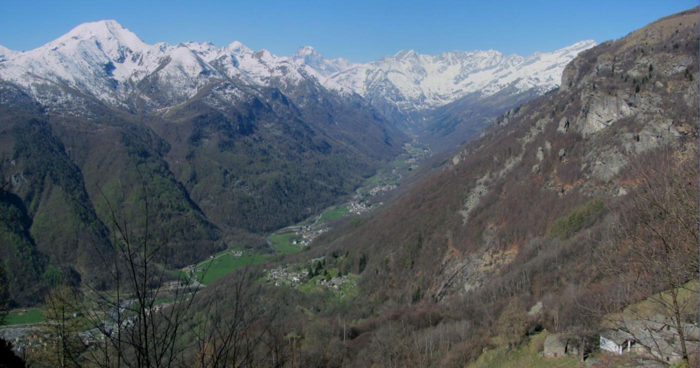 panorama sulla Val Grande di Lanzo