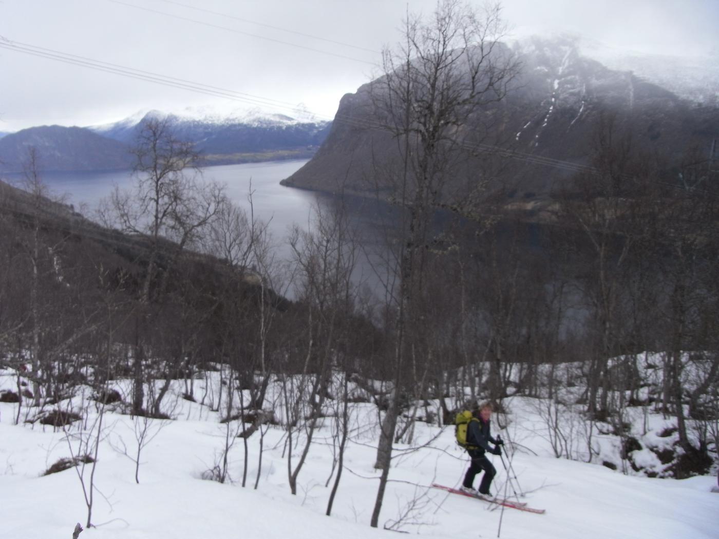 Skjervan da Innfjord per versante nord 2015-04-15