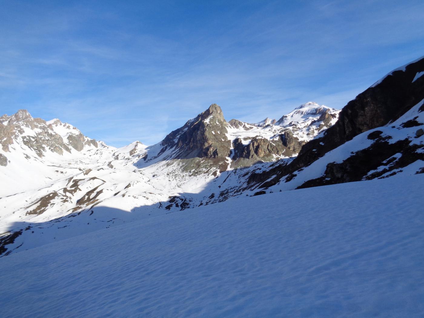 verso col Maurin e monte Bellino