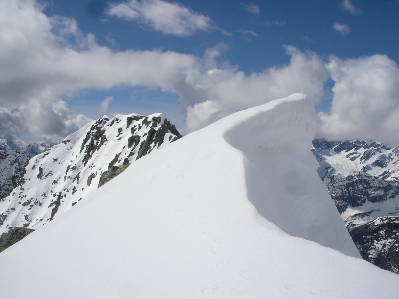 Cima sud del Piglimo dalla cima nord (sciistica)..