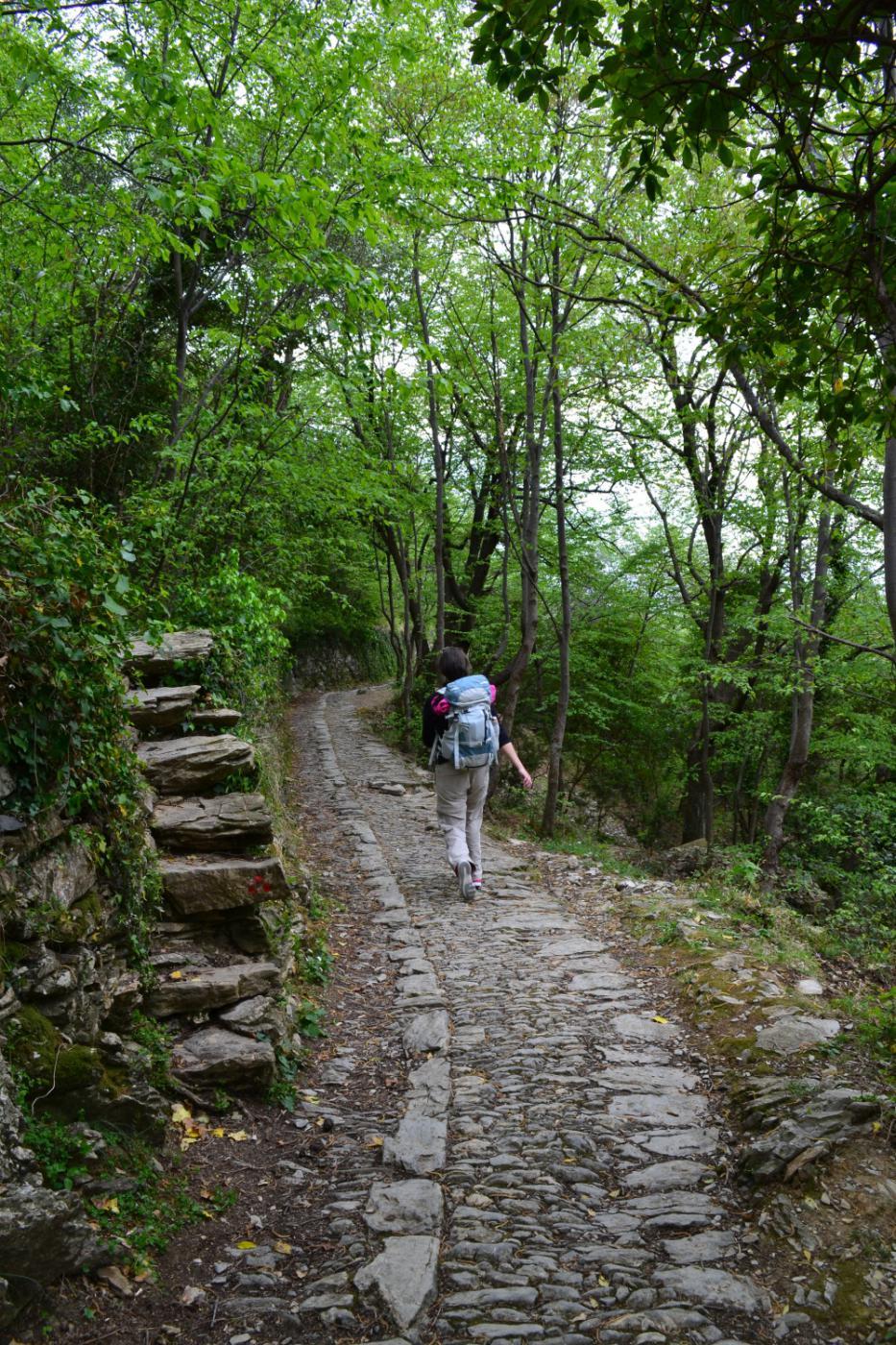 percorso pianeggiante per Pieve Alta