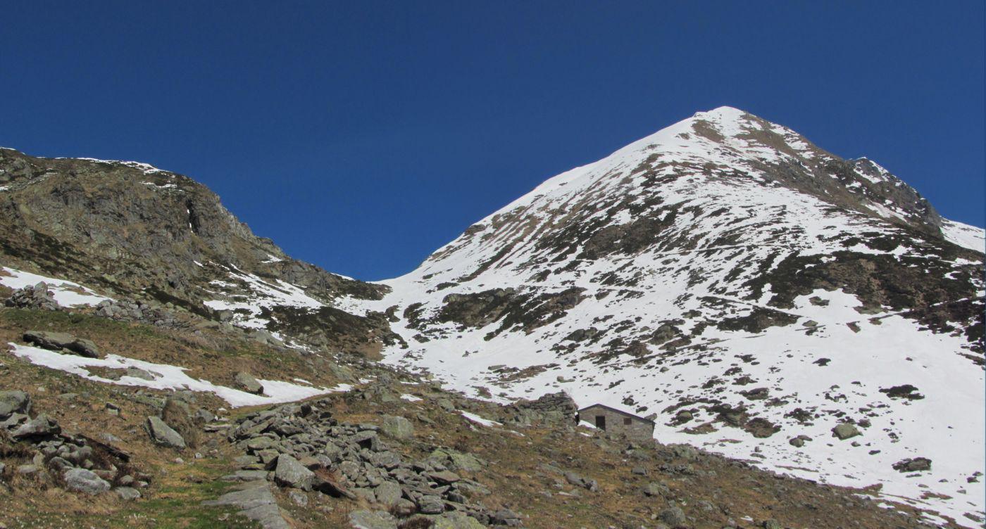 Il colle visto dall'alpe Finestre