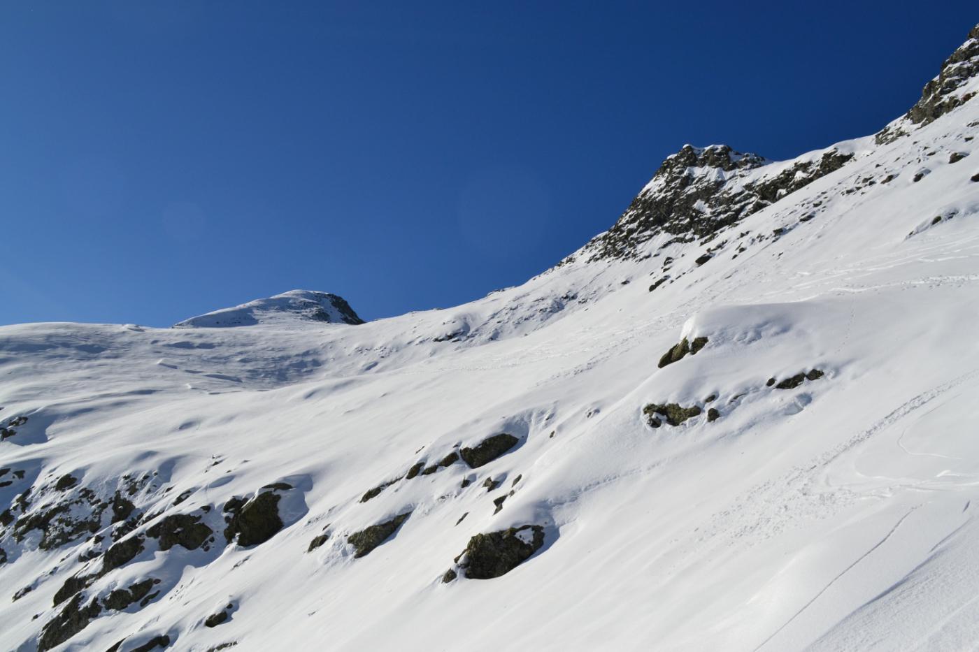 il traverso in direzione della cima