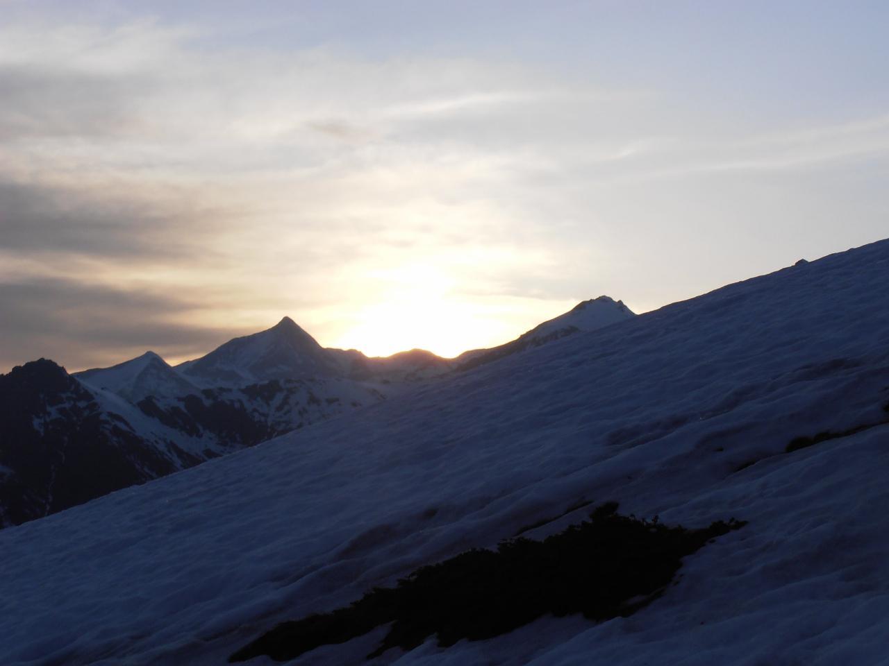 02 - tramonto dietro al Rocciamelone