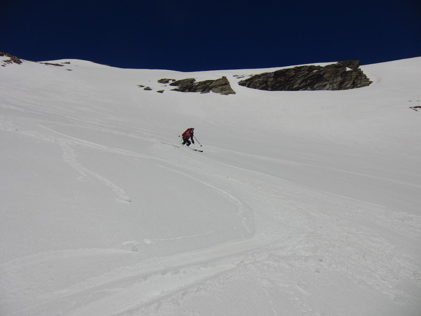 Primo pendio dalla Punta d'Ambin