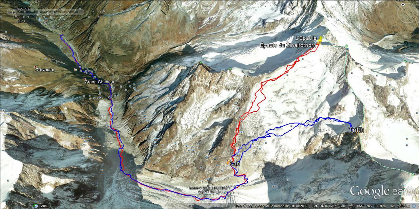 foto tracciato in rosso