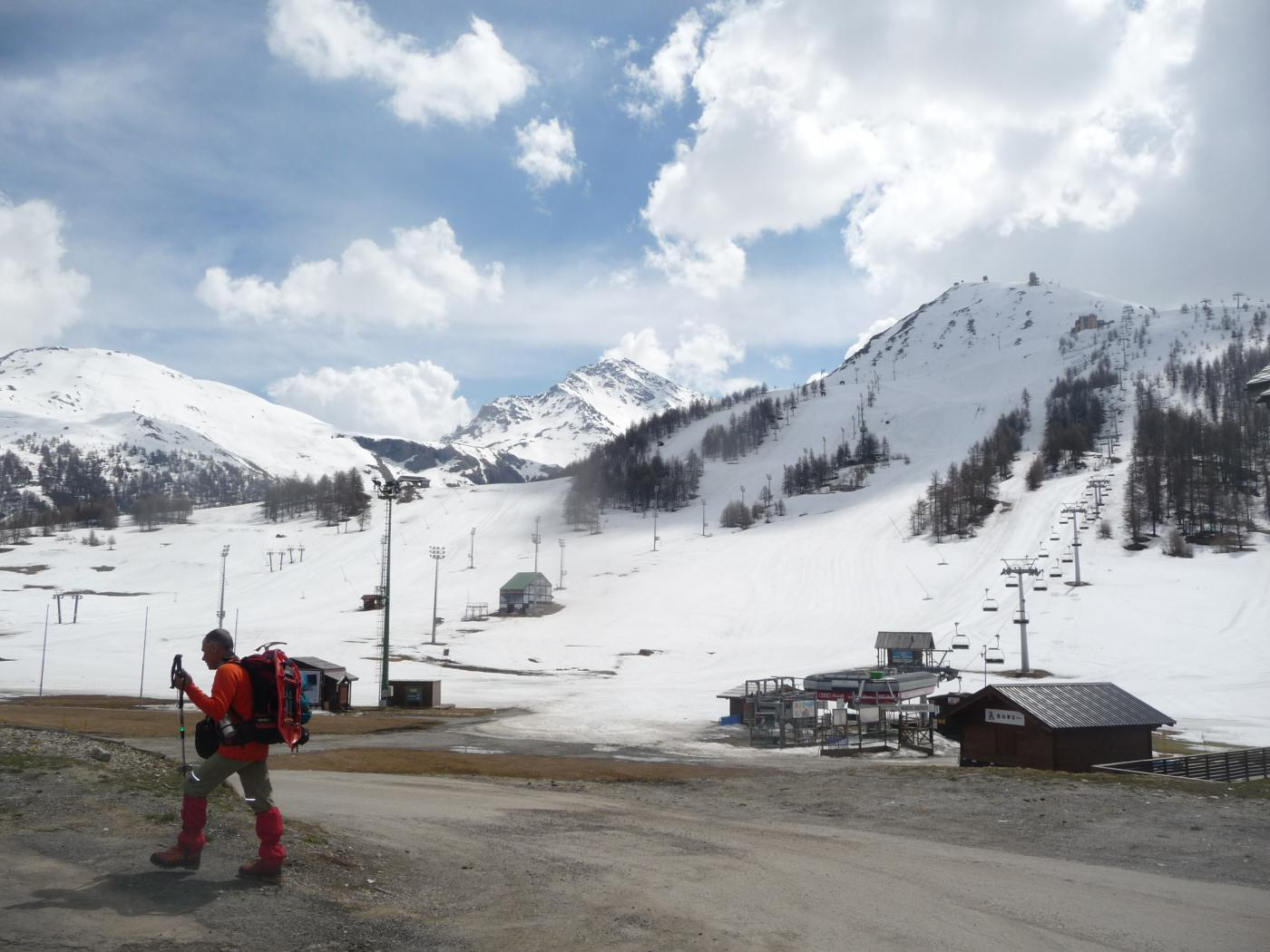 Querellet(Monte) e Monte Sises da Sestriere, anello per Bessen Haut 2015-04-23
