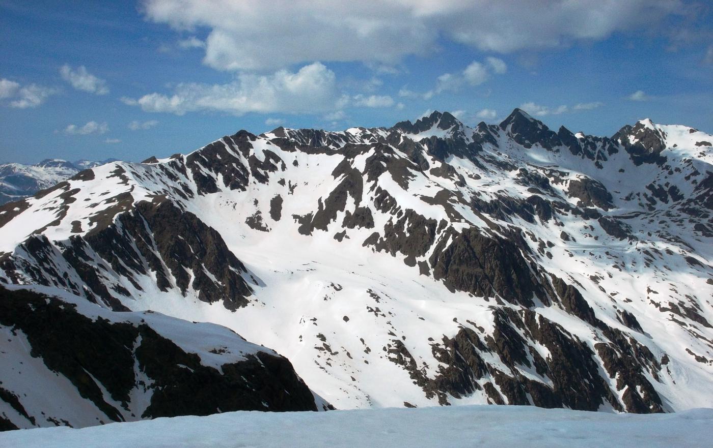 Panorama dalla cima verso Rocca negra
