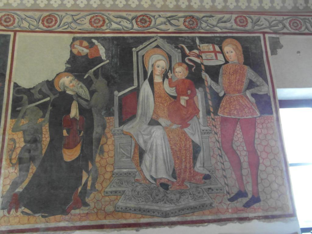 un affresco dell'Oratorio della Madonna del Latte
