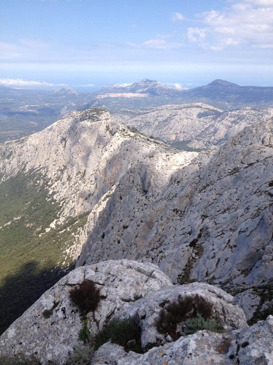 Panorama dalla cima sulla parete Nord
