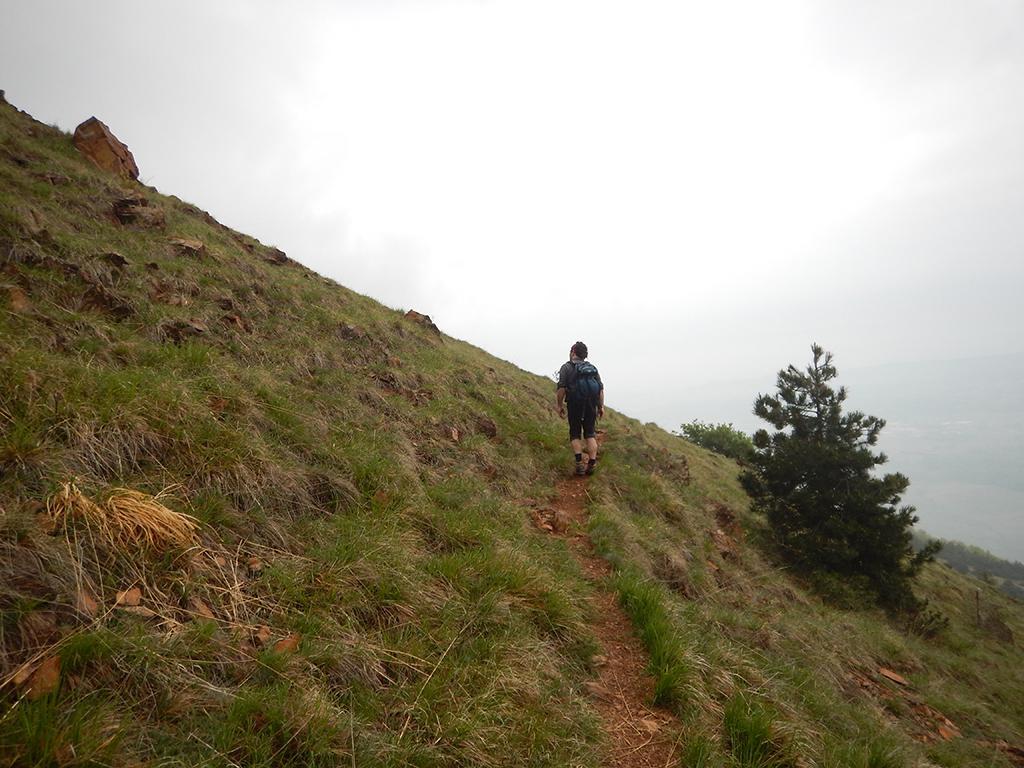 Sul sentiero che attraversa il versante sud da cui partono le indicazioni delle varie vie