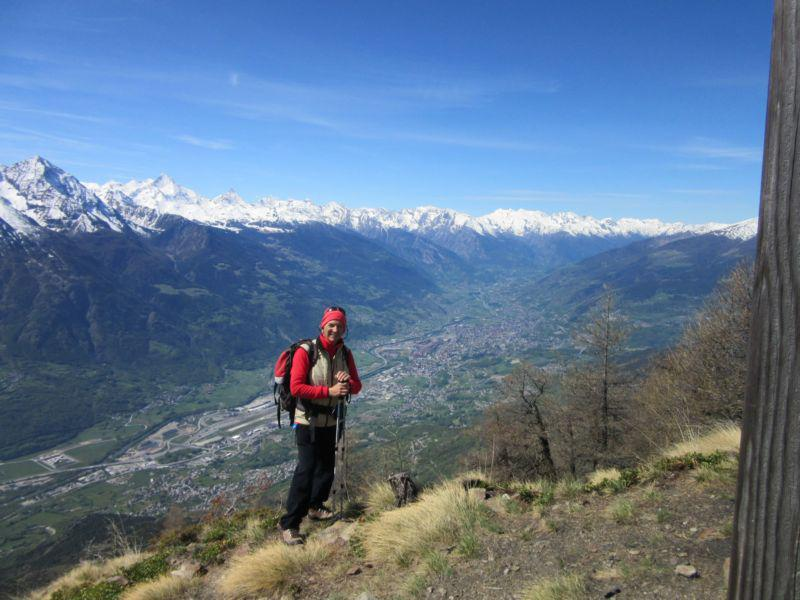 Panorama su Aosta