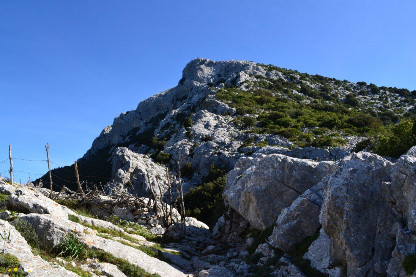il cancelletto nei pressi della ripida parete Nord di Punta Catirina