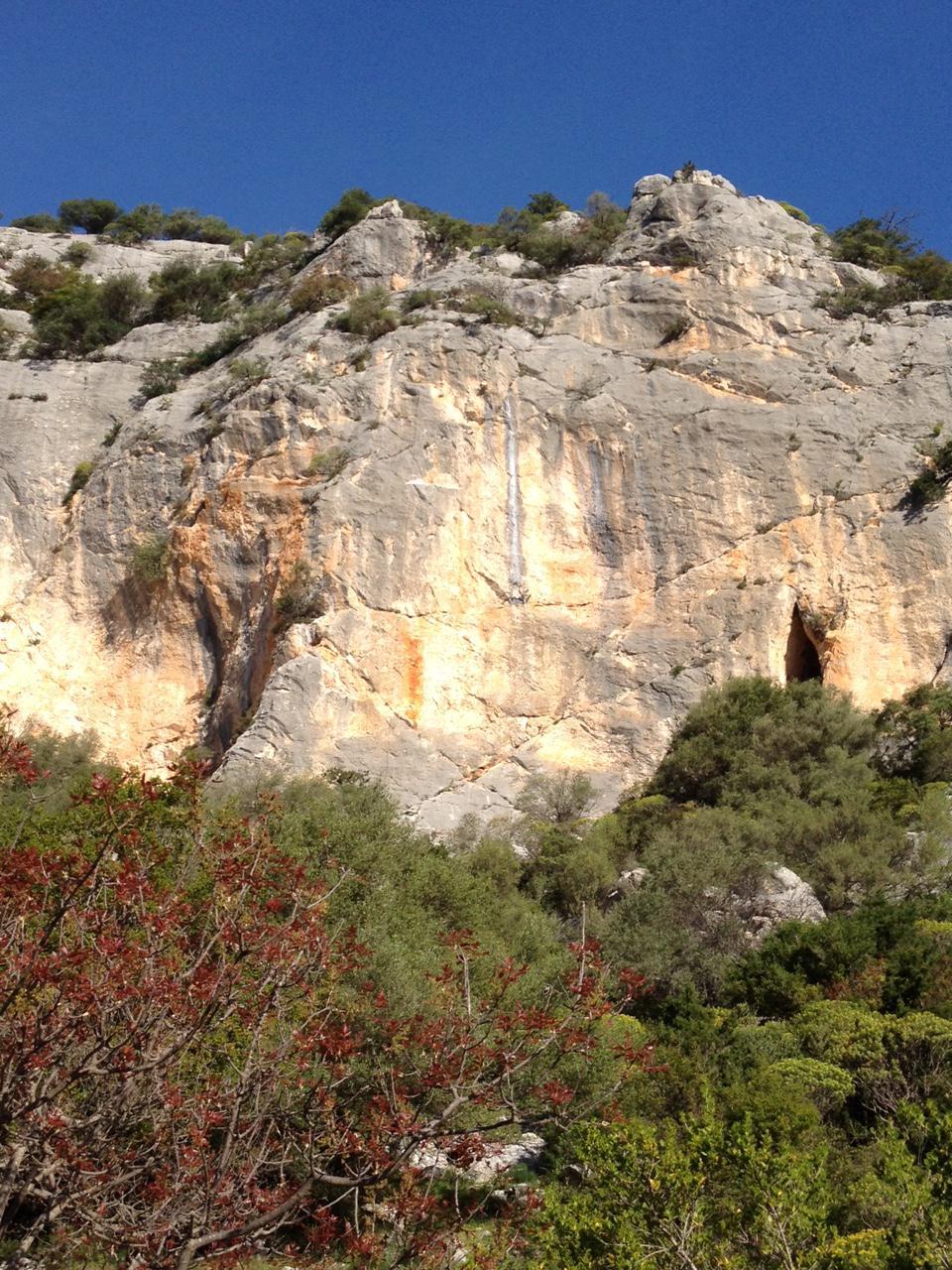 La parete della falesia