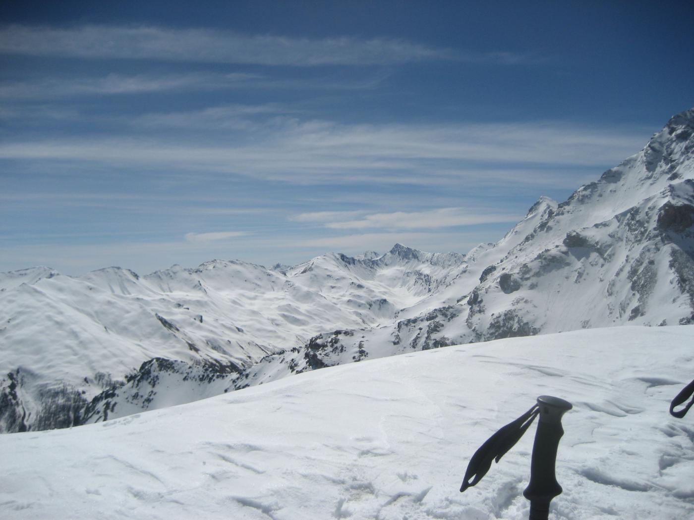 Dalla punta verso la Val Troncea