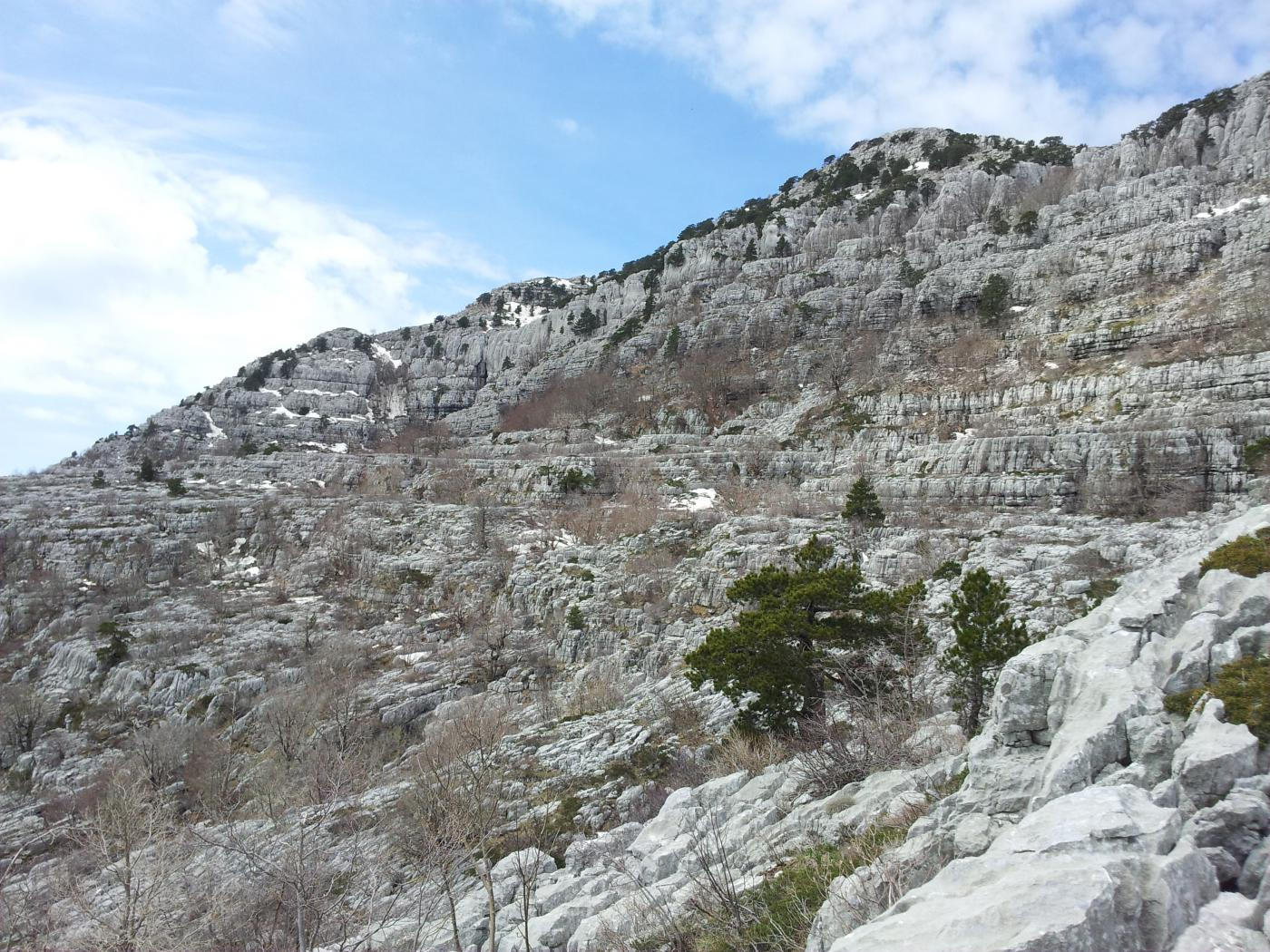 la vetta del Subra dalla Simova Pita