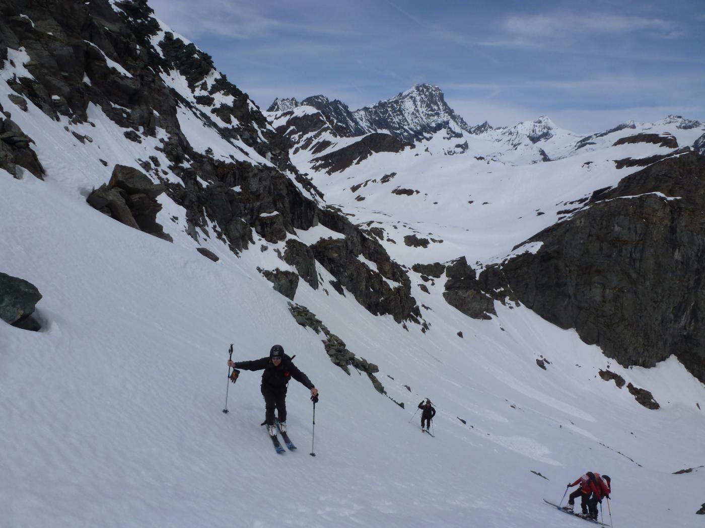Ultimi metri per il colletto 2860m