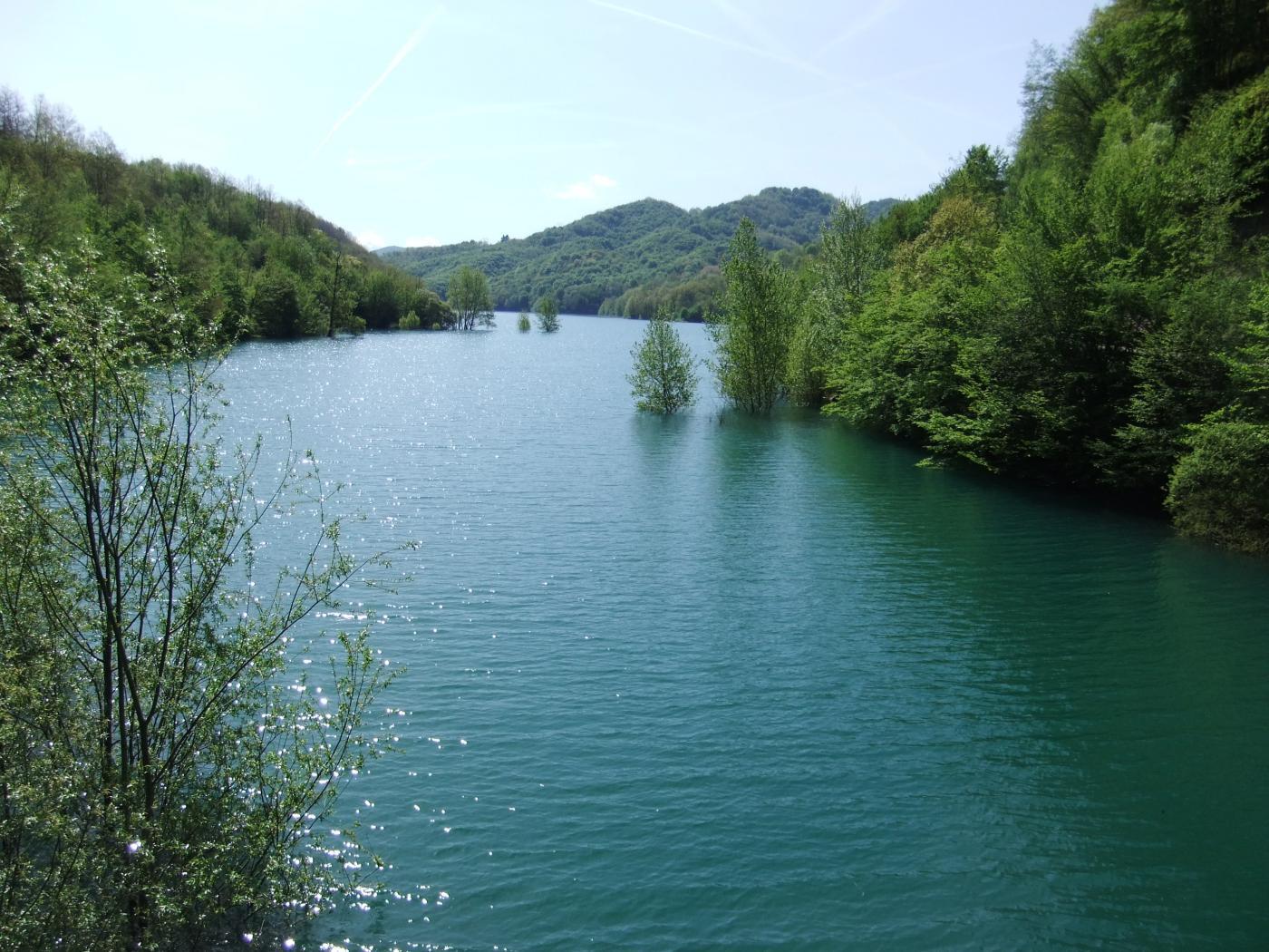 Bello pieno il lago....