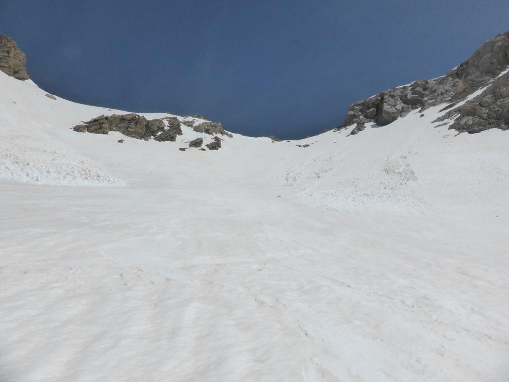 Canale per il colle Ciaslaras visto dal basso