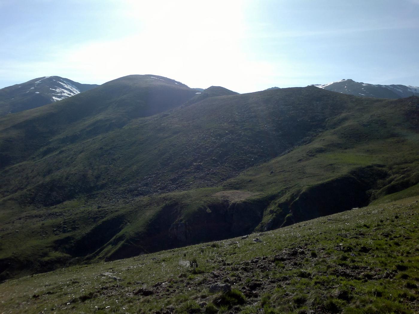 Profonda incisione del Rio Sessi presso le Alpi del Colombardo