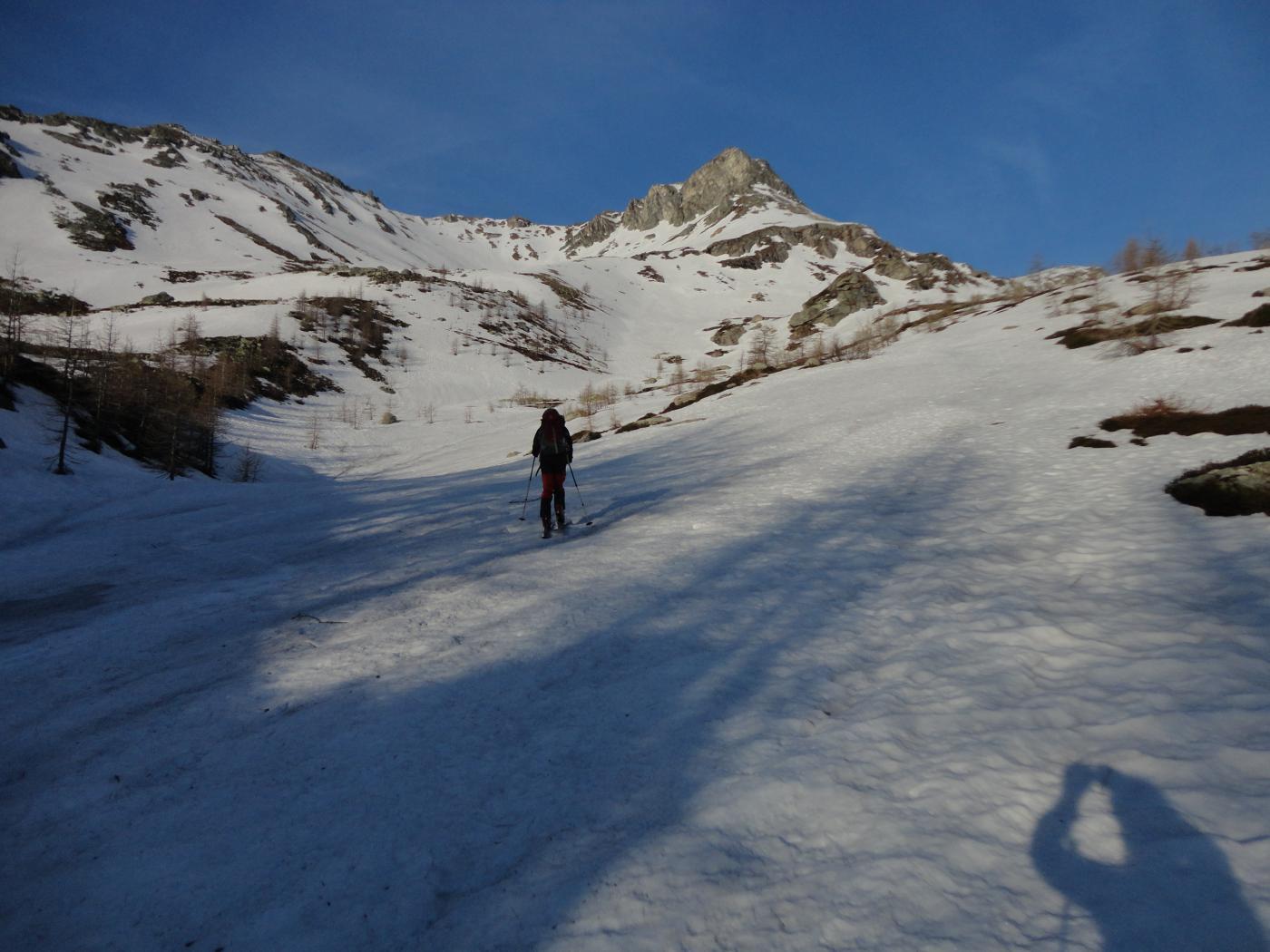 il primo tratto con gli sci