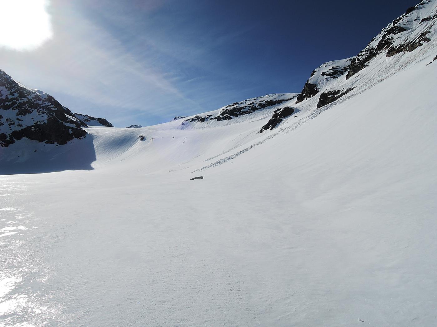 Parte alta del Gamsagletscher