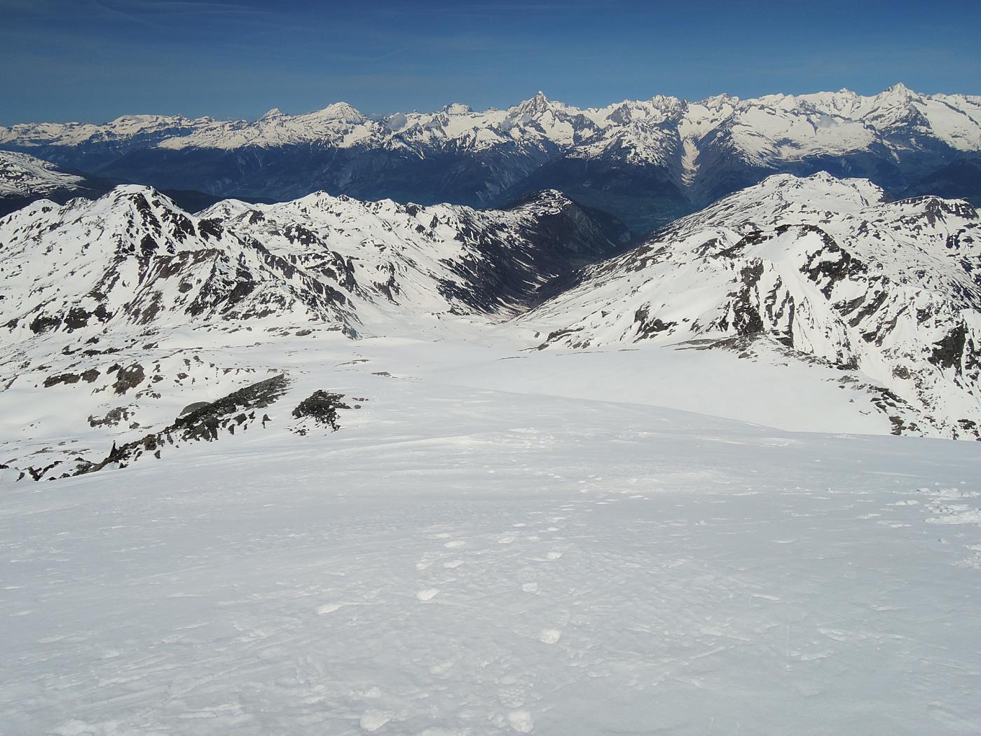 Gamsagletscher visto dalla cima