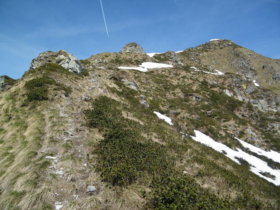 Sulla cresta con la Cima dell'Usciolo sullo sfondo