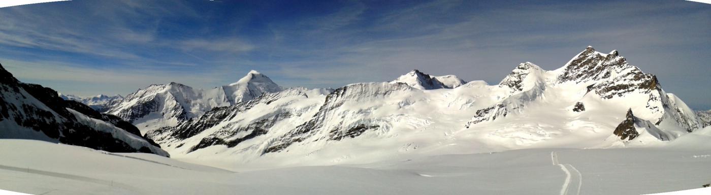Louwitor e Jungfrau dall'attacco del Monch