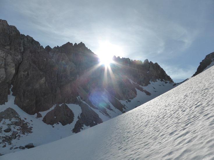 Il sole dietro Rocca Brancia