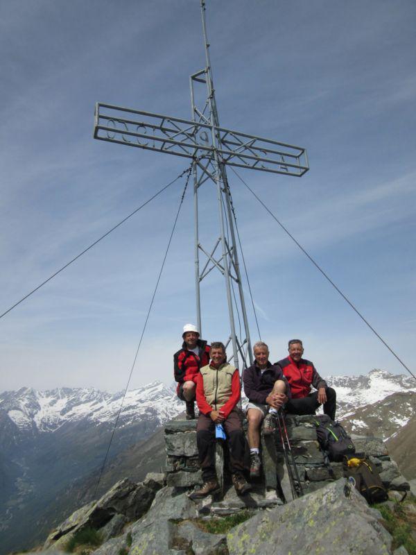 Con gli amici Giorgio, Pier Albino e Sergio