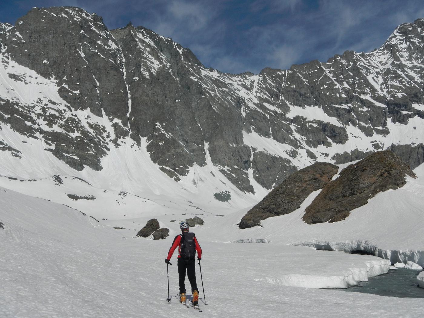 i ripiani verso il ghiacciaio della Bessanese