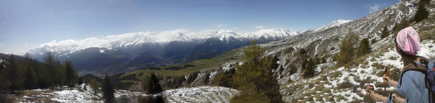 panorama da 2200 metri sul sentiero 3D...
