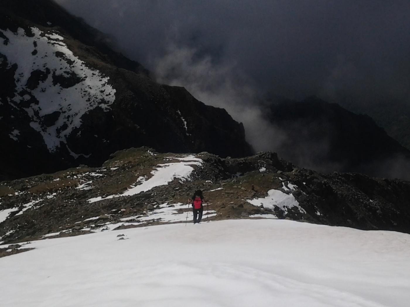 Bruna sul nevaietto