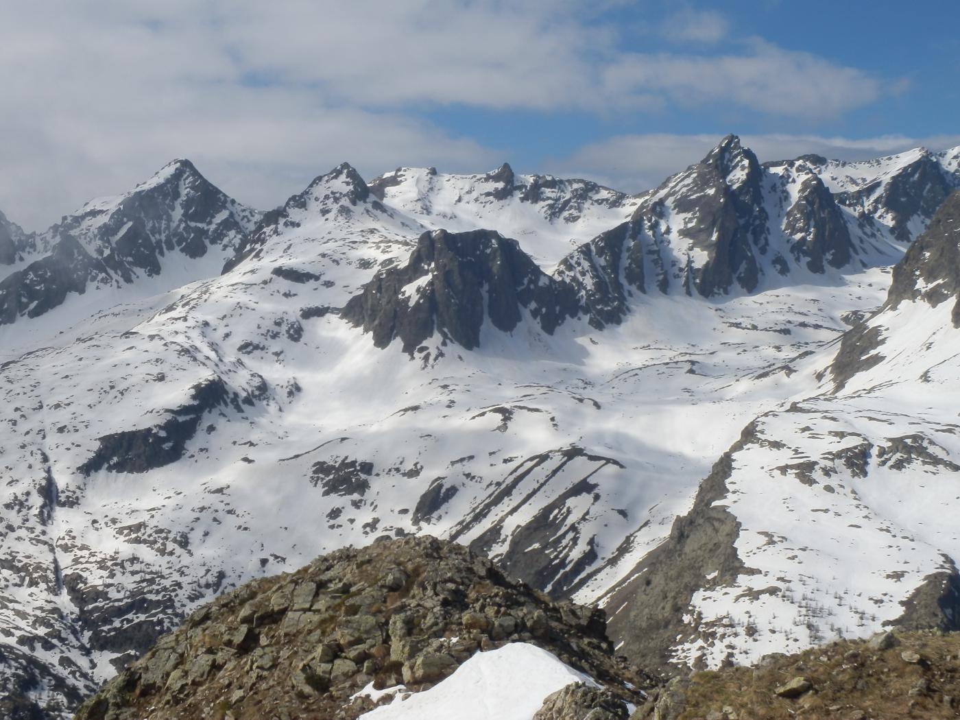 vista verso l'Ischiator e l'alto Vallone del Piz