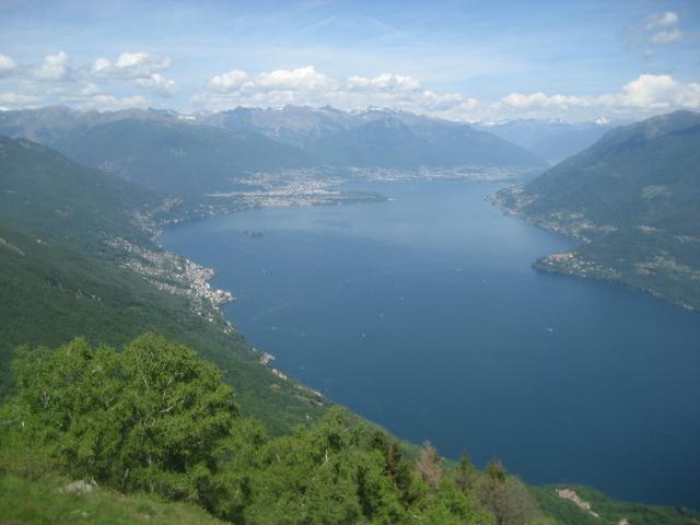 vista su Locarno (e CH) dal monte Giove
