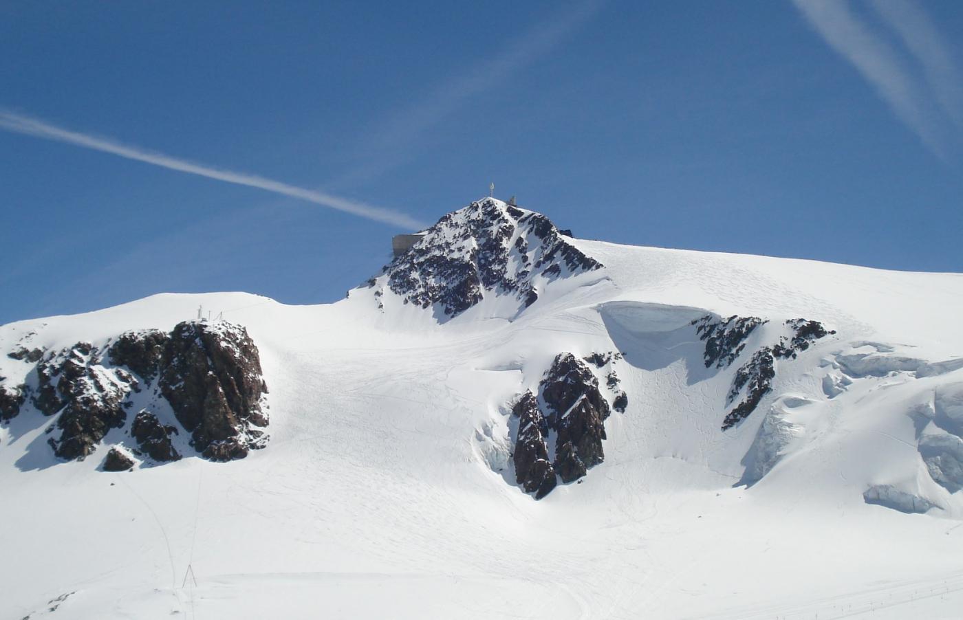 Il Klein Matterhorn visto dal colle del Teodulo