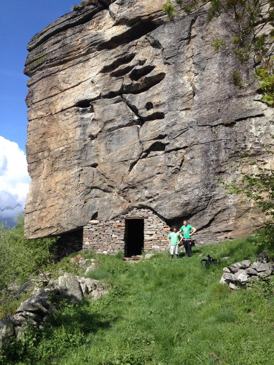 io e marco davanti al roc d'le masche