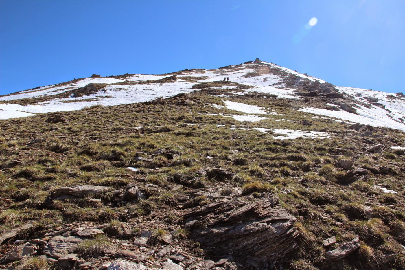 salendo a quota 2350 m sul costone Sud-Ovest della Pierre Muret