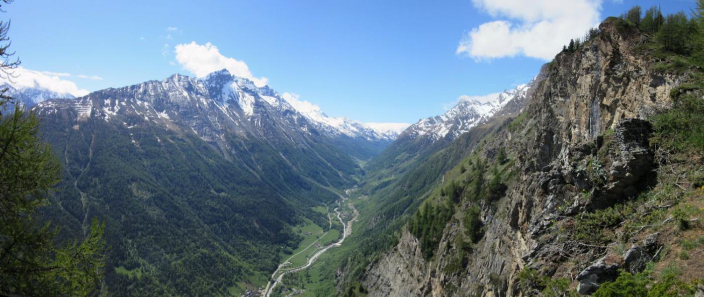 Vista sulla valle di Rhemes