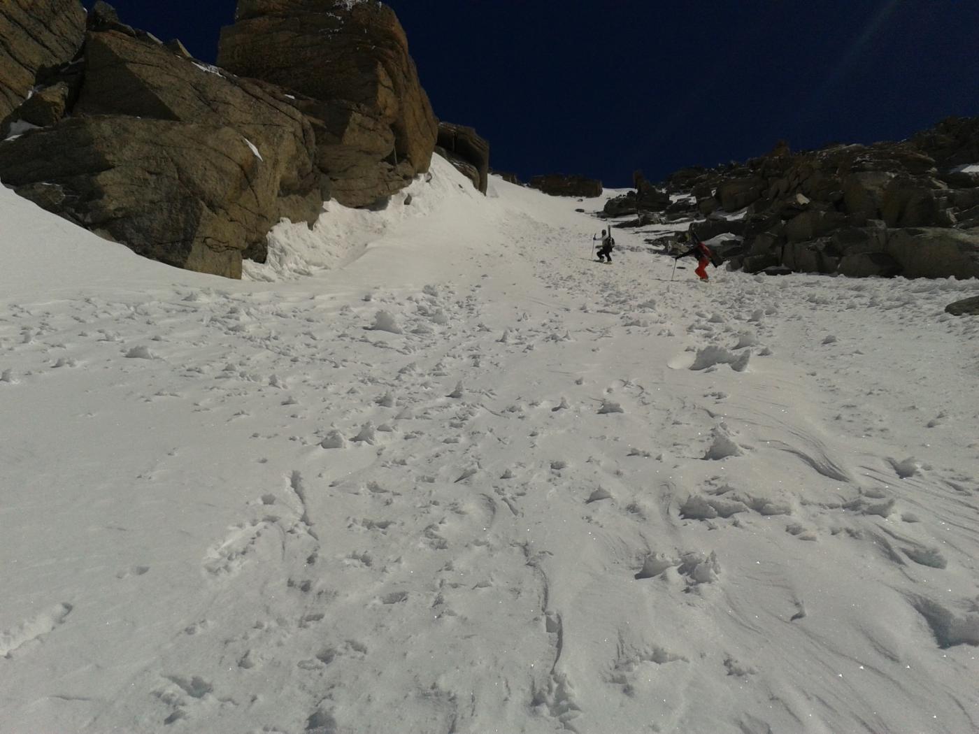 pochi metri sotto la cima