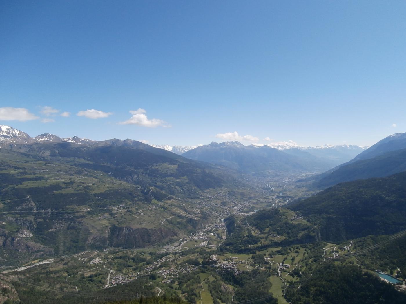 panorama sulla Valle Centrale...