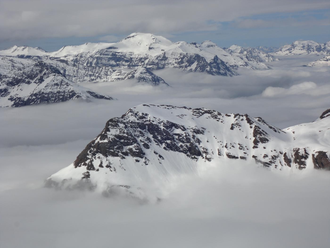 mare di nuvole verso l'haute maurienne