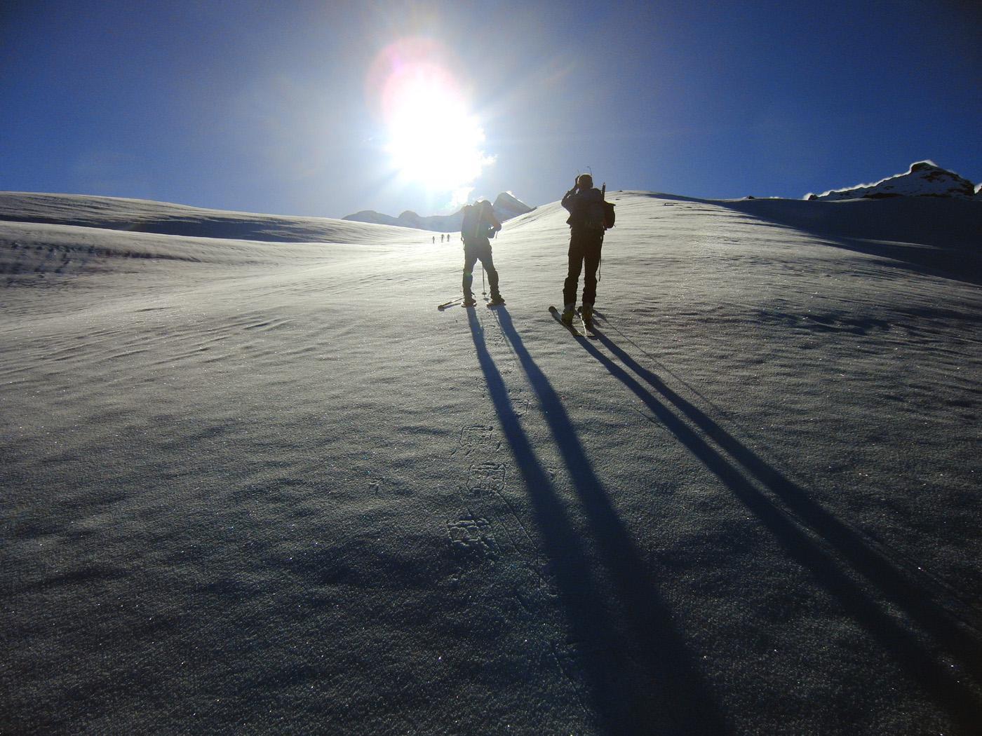 Sul ghiacciaio neve ok