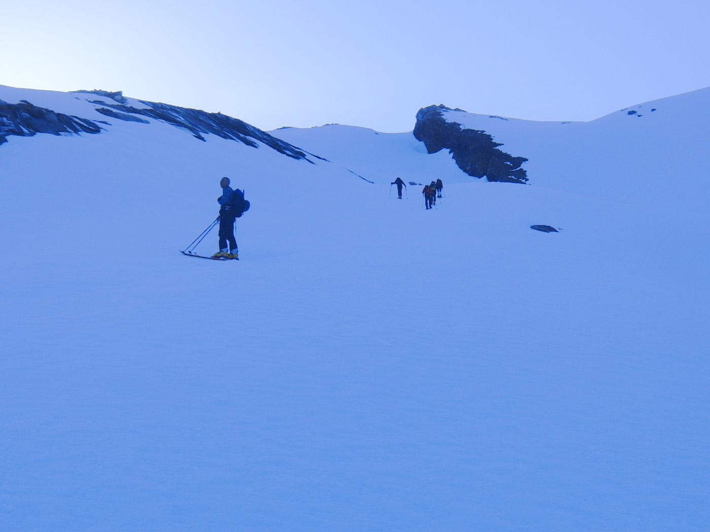 Nella parte bassa del ghiacciaio