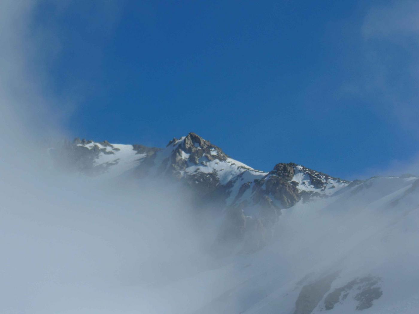 ultima visione della punta......poi solo nebbia