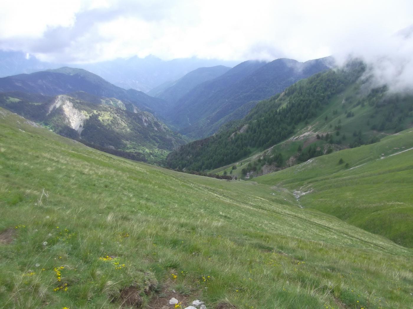 il Vallon de Cayros  dal Col de Raus