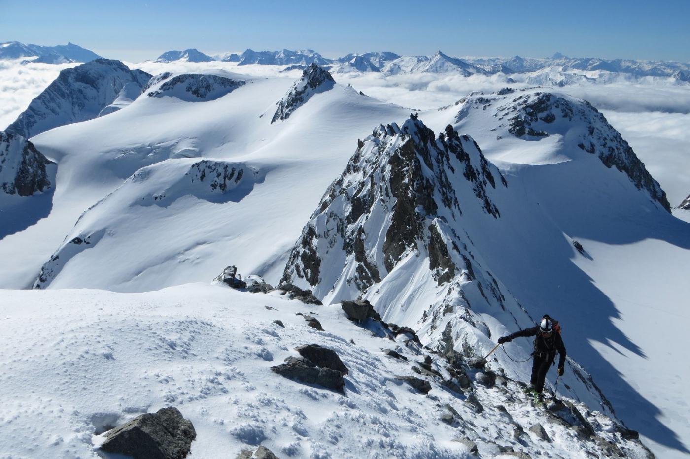 Peclet (Aiguille de) da Val Thorens per il versante SSO 2015-05-27